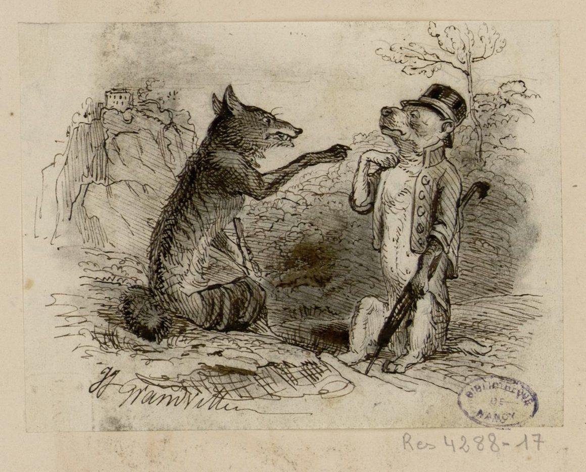 Le loup et le renard, un conte de Grimm