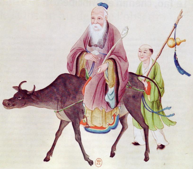 Lao Tseu sur son buffle