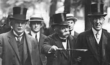 Georges Clemenceau aux négociations du traité de Versailles
