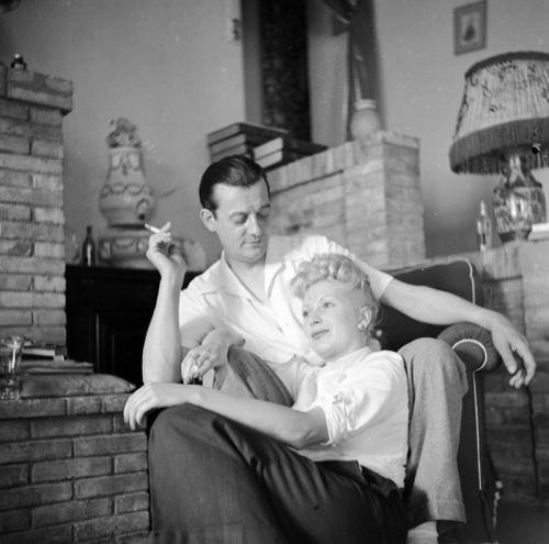 Marcel Pagnol et Josette Day