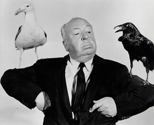 Hitchcock fait la promotion du film Les Oiseaux