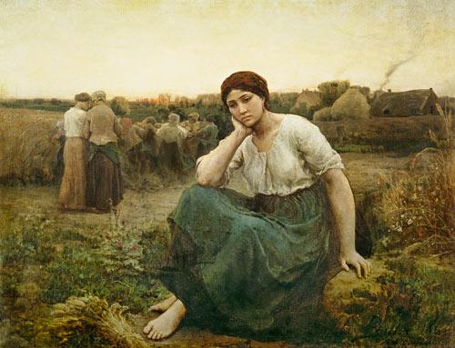 Tableau Eevning de Jules Breton