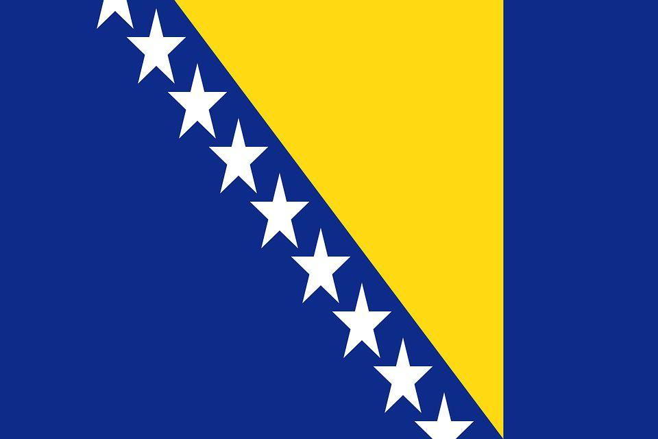 Drapeau Bosnie-Herzégovine - Le drapeau bosniaque