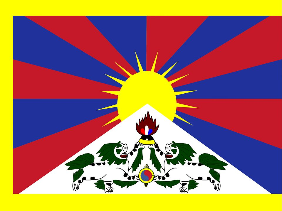 Drapeau Tibet - Le drapeau tibétain