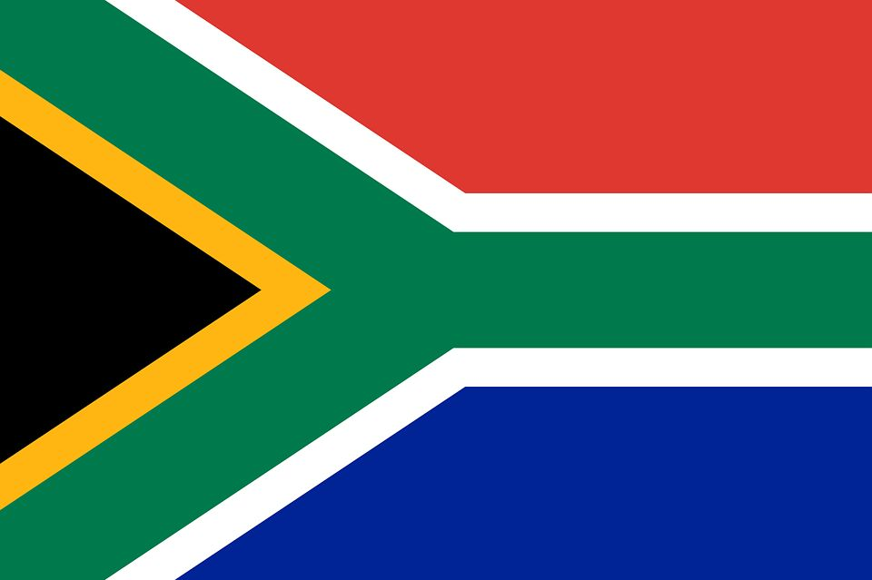 Drapeau Afrique du Sud - Le drapeau sud africain