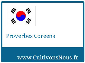 Proverbes Coreens