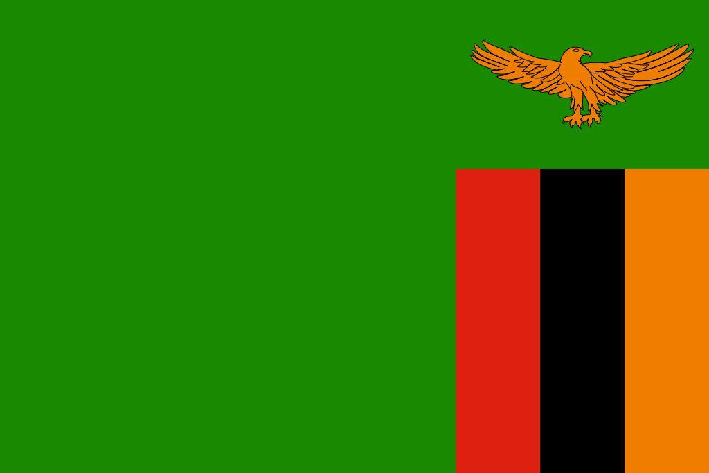 Drapeau Zambie - Le drapeau zambien
