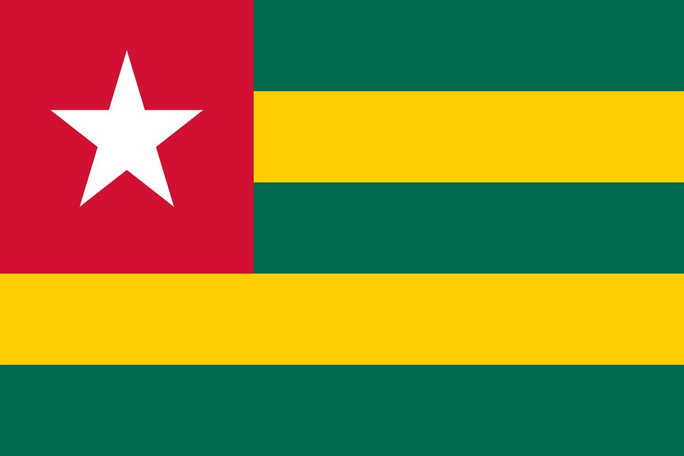 Drapeau Togo - Le drapeau togolais
