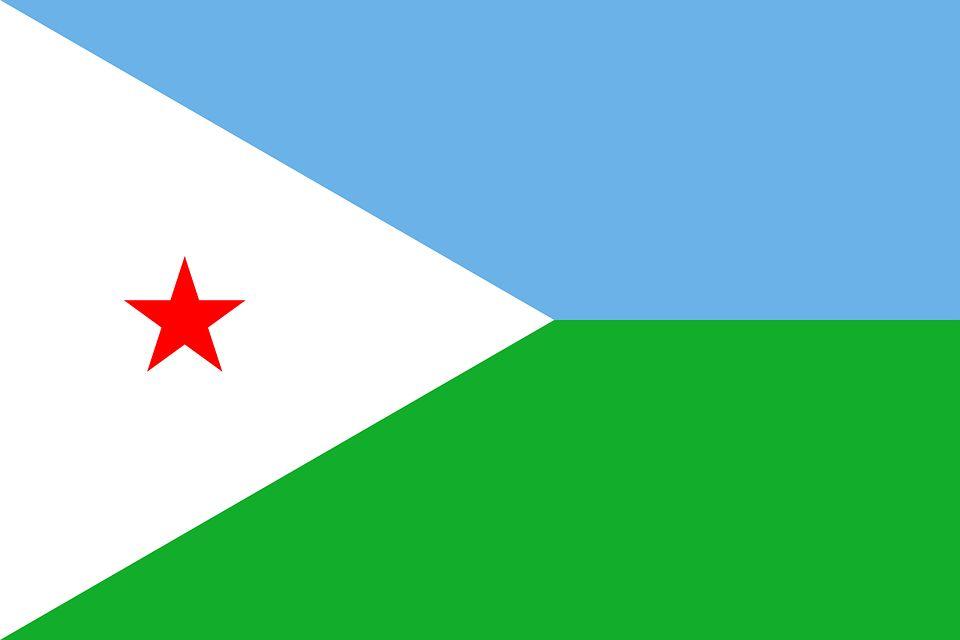 Drapeau Djibouti - Le drapeau djiboutien