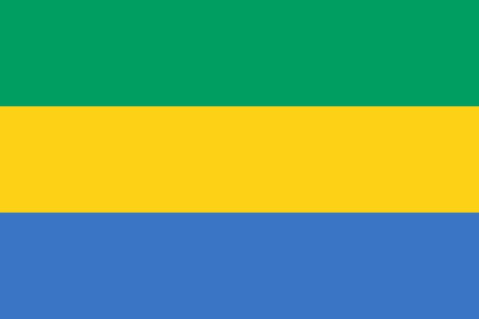 Drapeau Gabon - Le drapeau gabonais