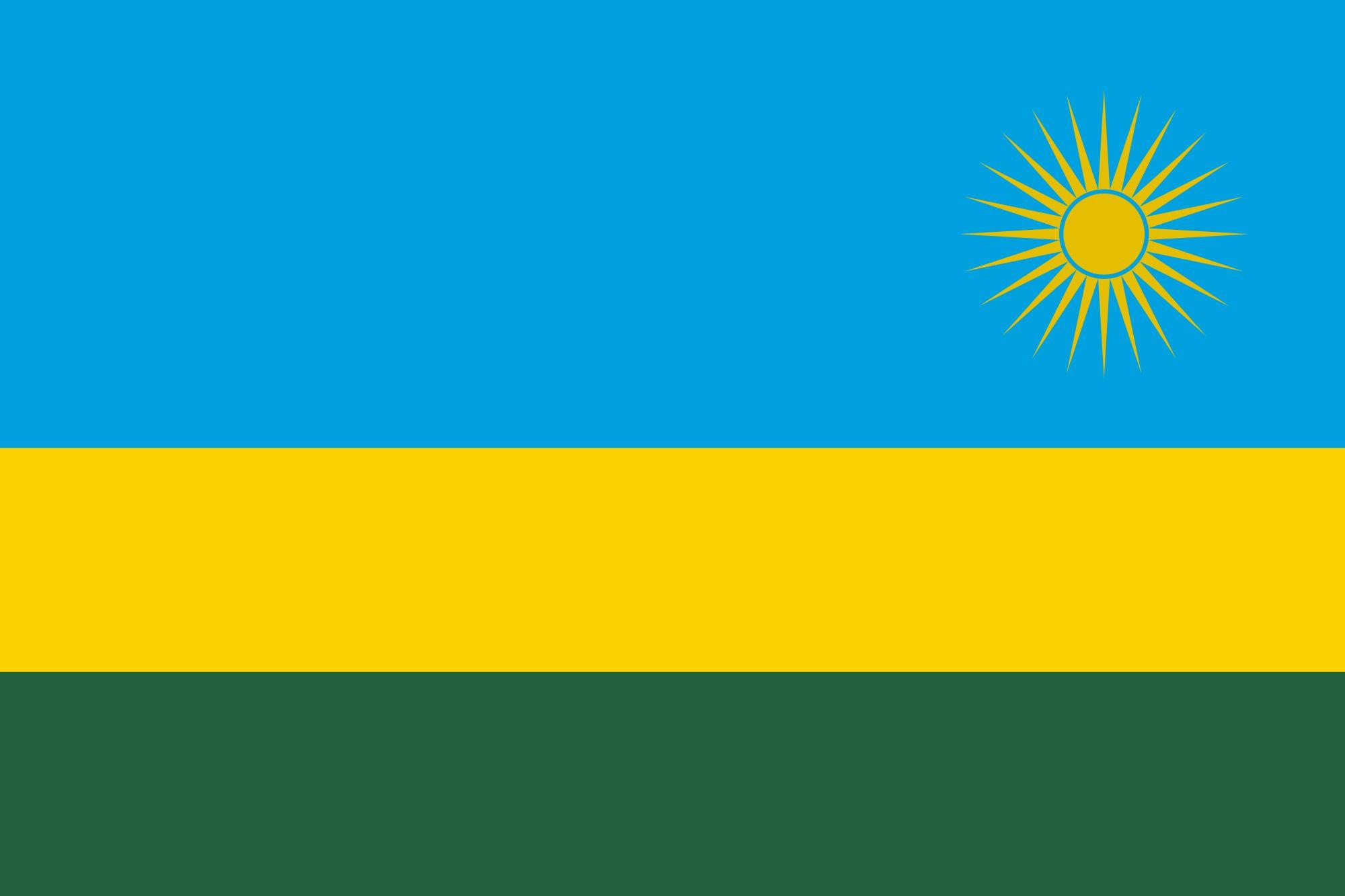 Drapeau Rwanda - Le drapeau rwandais