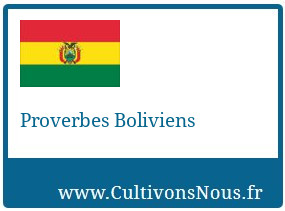 Proverbes Boliviens