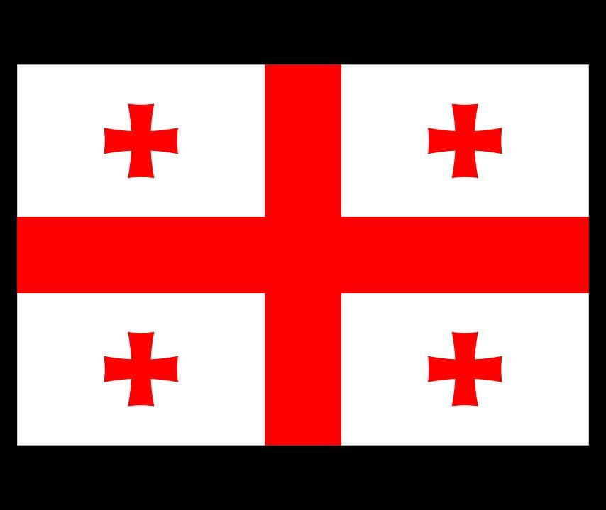 Drapeau Géorgie - Le drapeau géorgien