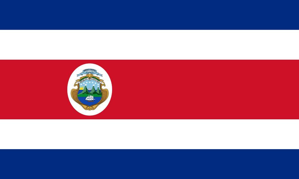 Drapeau Costa-Rica - Le drapeau costaricain