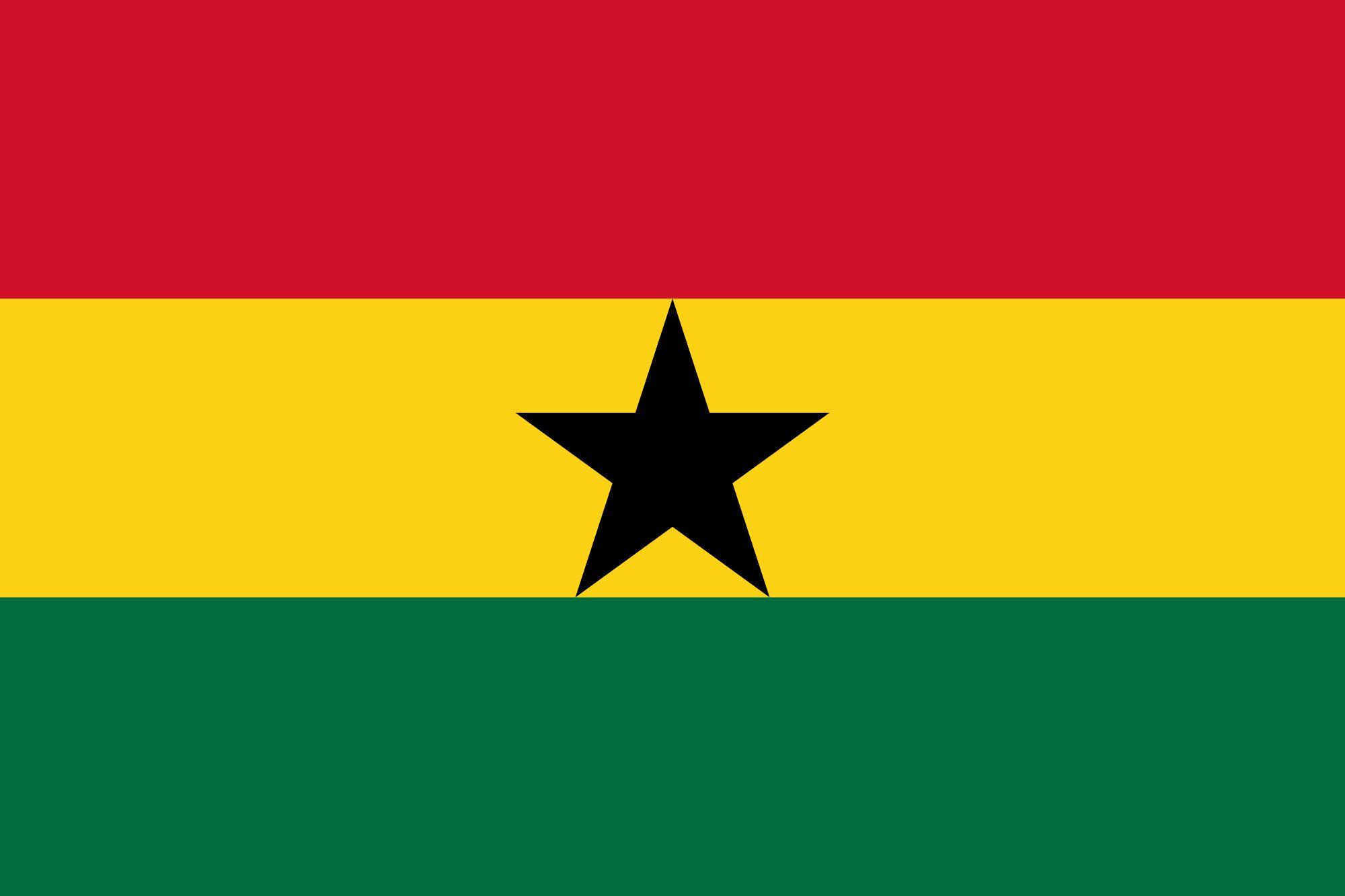 Drapeau Ghana - Le drapeau ghanéen