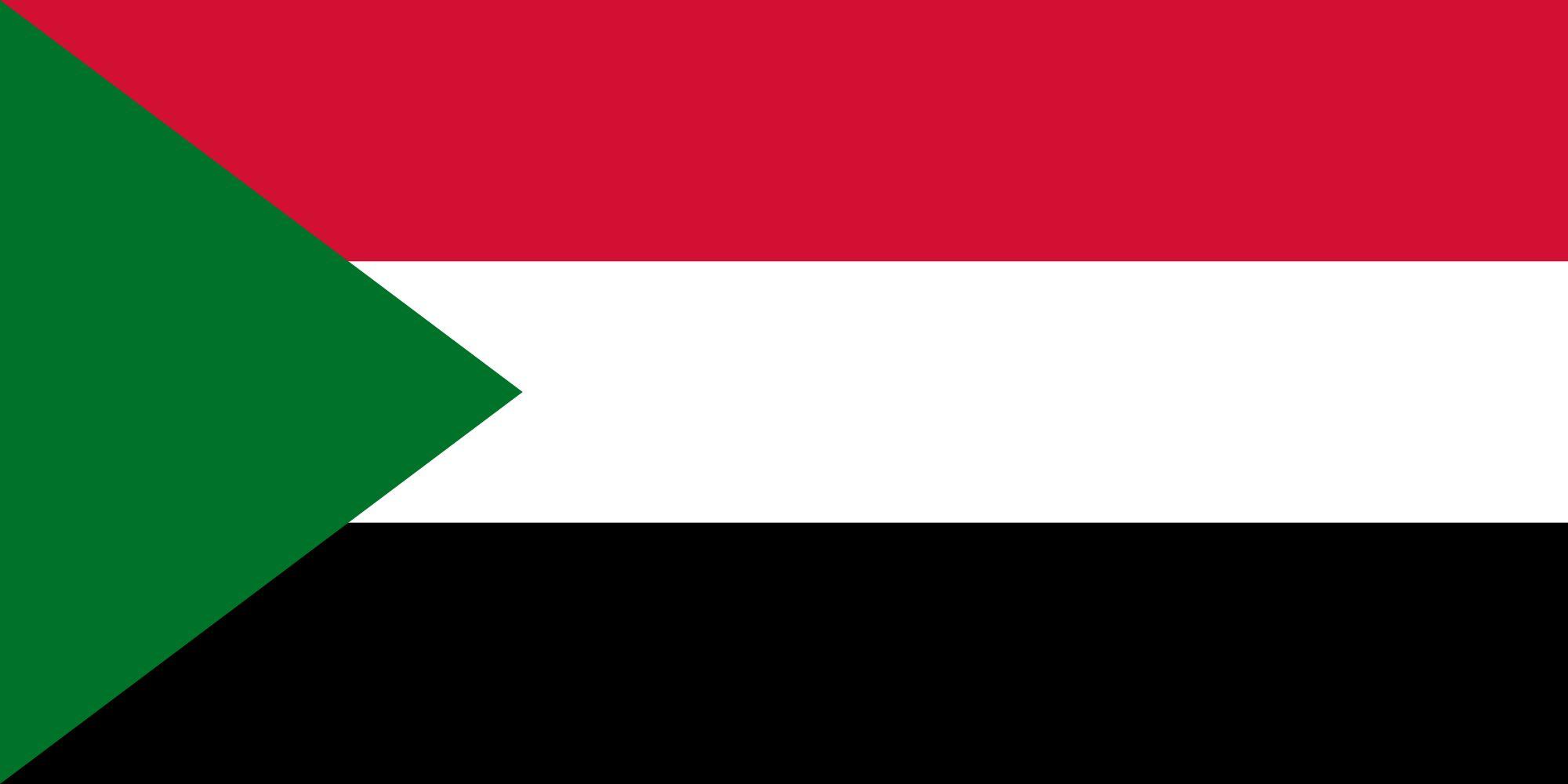 Drapeau Soudan - Le drapeau soudanais