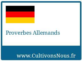 Proverbes Allemands