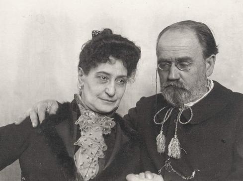 Emile Zola et son épouse, Alexandrine Zola