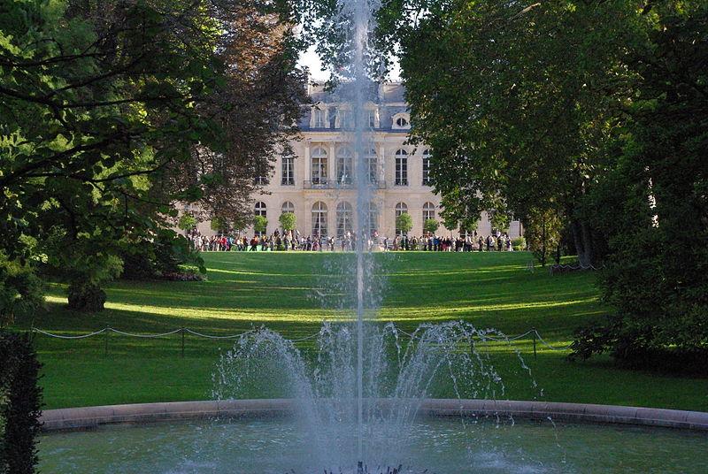 Palais Élysée depuis jardin