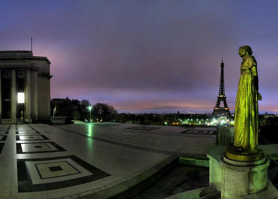 Le parvis du Trocadéro