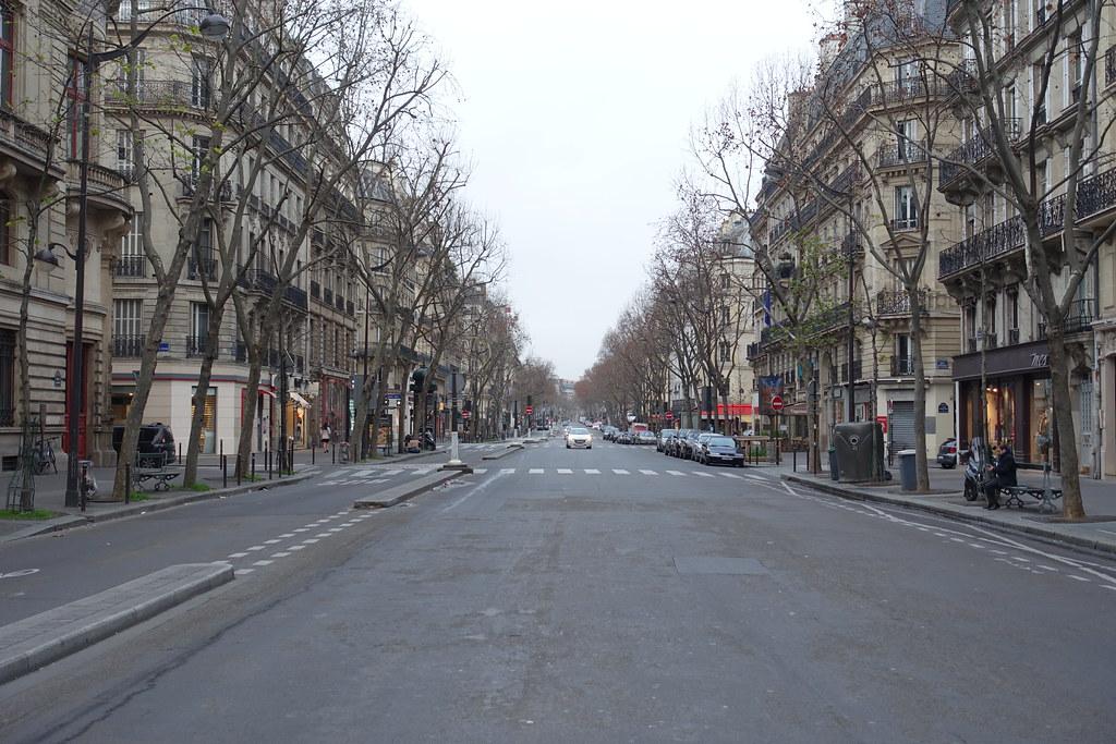 Un boulevard conçu par le baron Haussmann