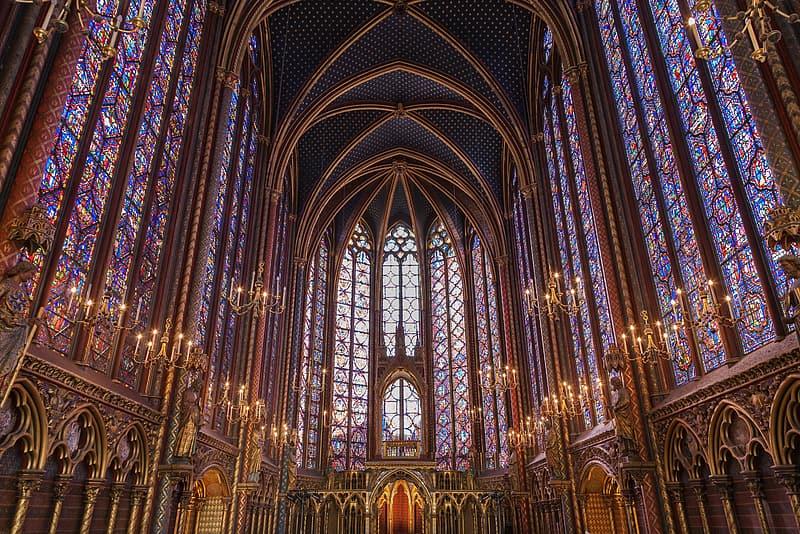 La partie haute de la Sainte-Chapelle